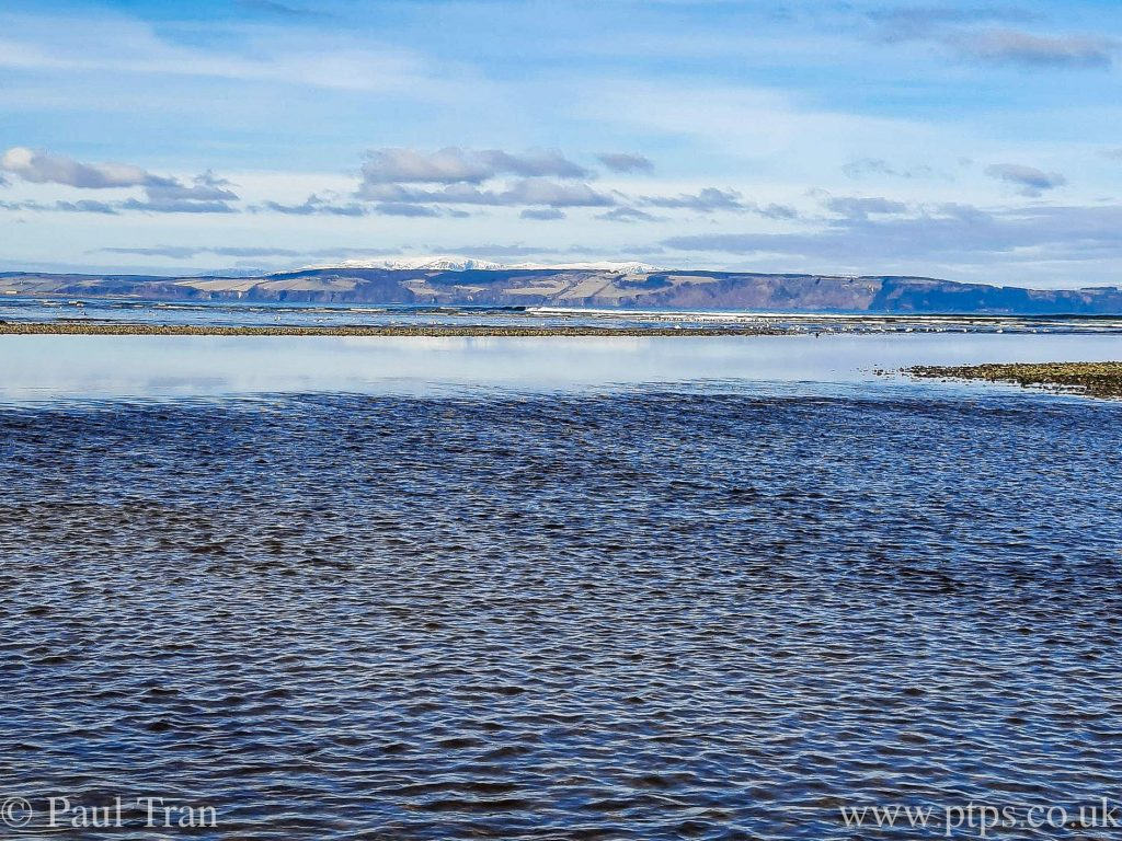 view of the Moray Firth at low tide