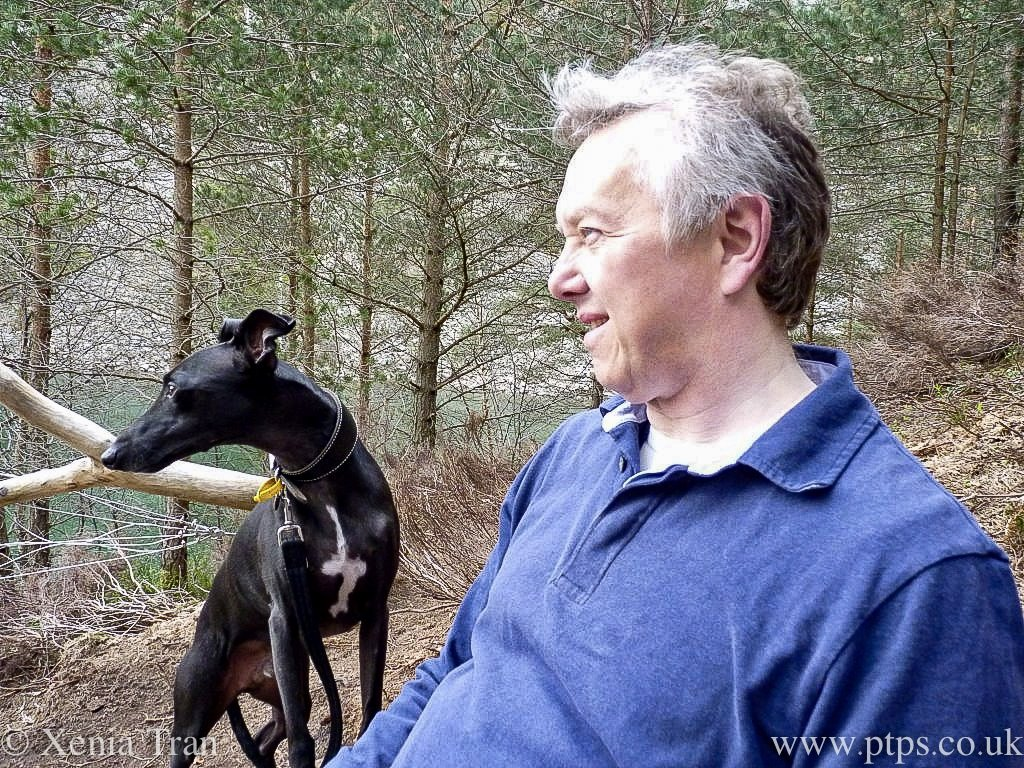 Paul Tran with his whippet