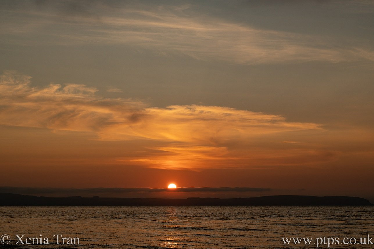 sunset over the moray firth