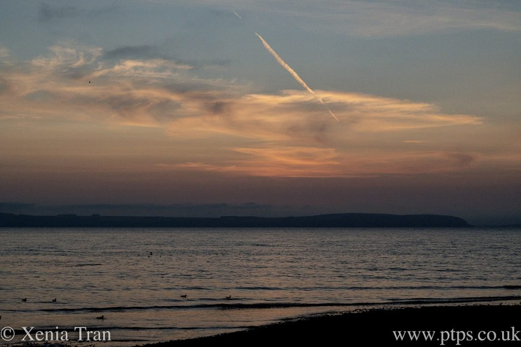 sunset over moray firth