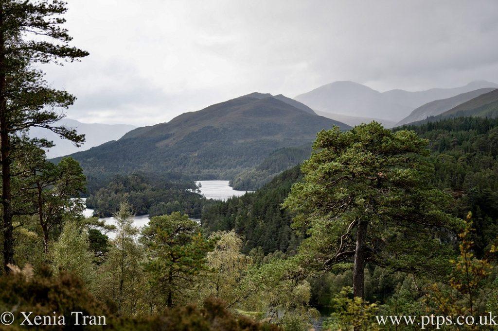 autumn view over Loch Beinn a' Mheadhain